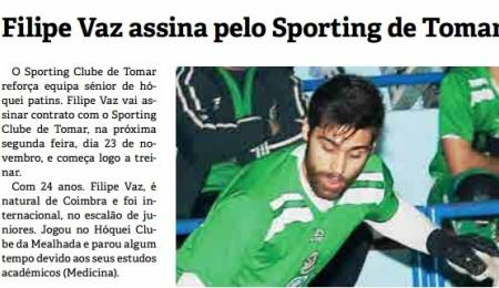 FILIPE VAZ REFORÇA SC TOMAR