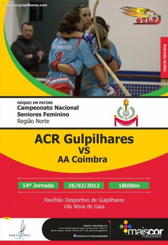 Gulpilhares recebe AA Coimbra