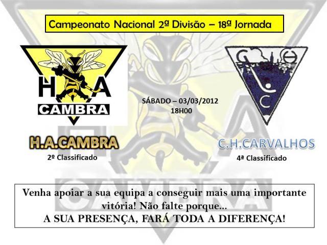 Cambra recebe CH Carvalhos