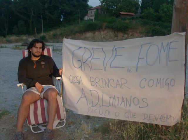 Ricardo Cunha em greve de fome