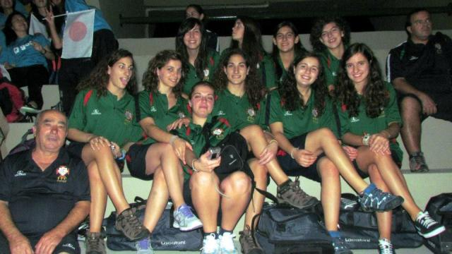 Seleção Feminina nas meias-finais do Mundial 2012