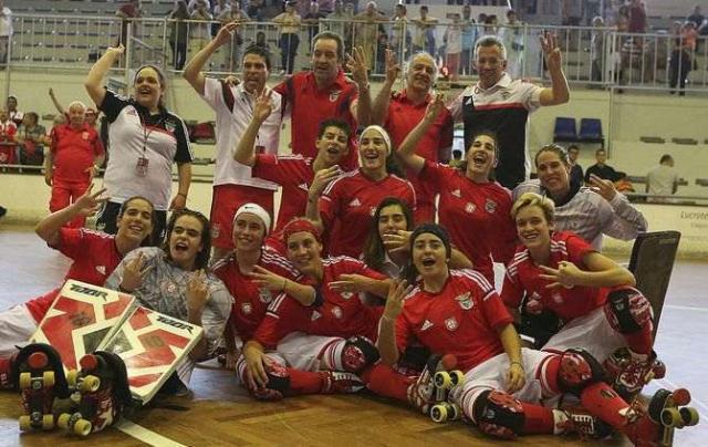 Benfica é Tri-campeão nacional de Hóquei em Patins Feminino